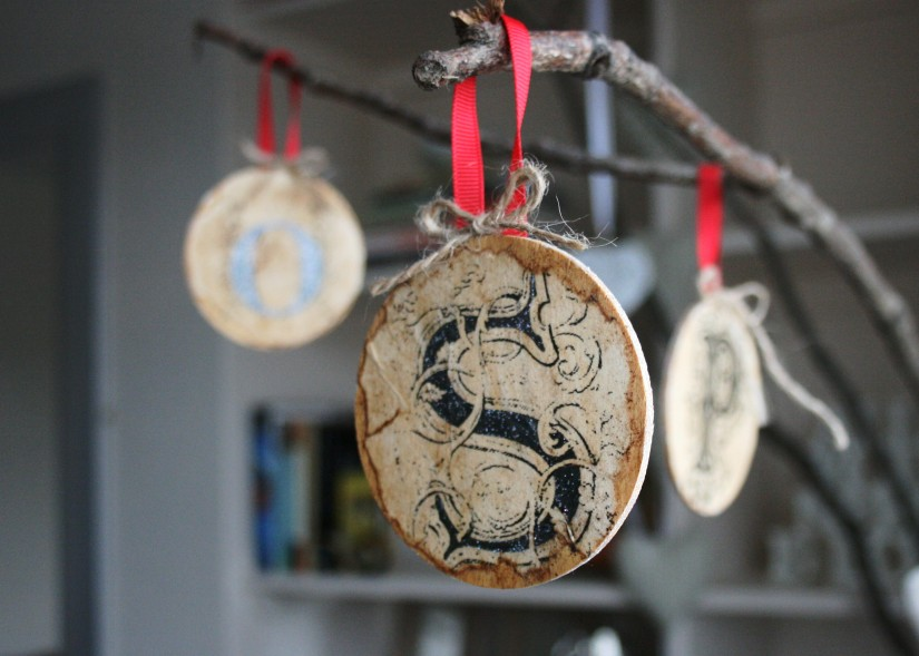 DIY Antique Style Initial Baubles