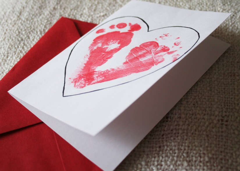 Toddler Crafting: Last Minute Valentine's Day Card