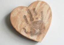 Hand Print Heart Magnet