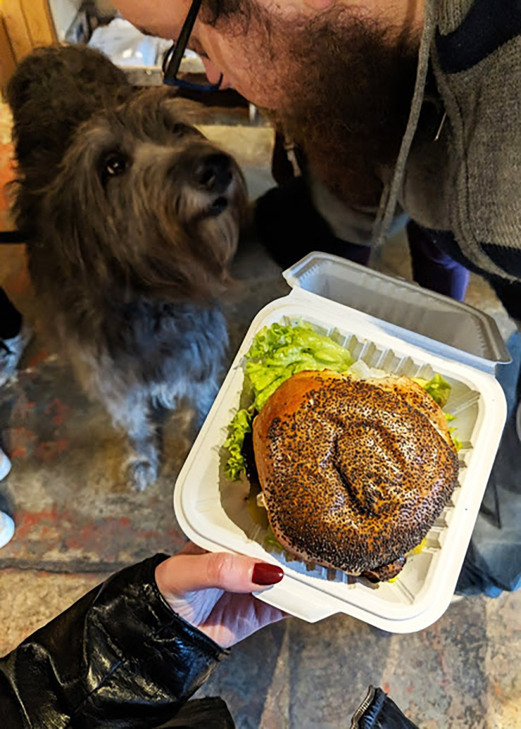 emilyannlou vegan burger and dog
